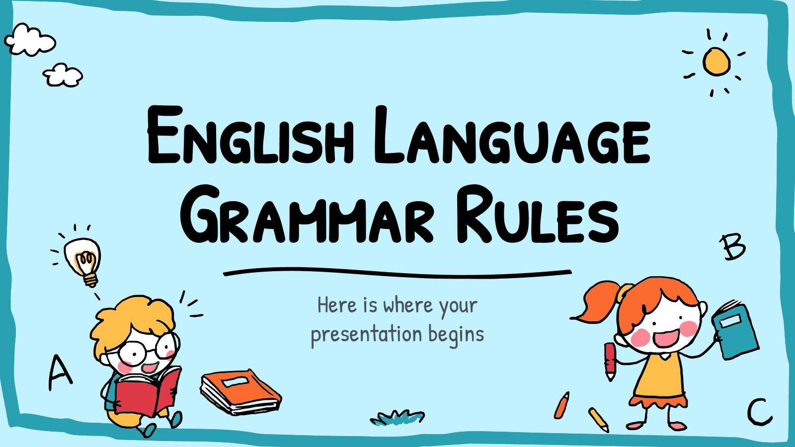 Modelo de apresentação Gramática do inglês