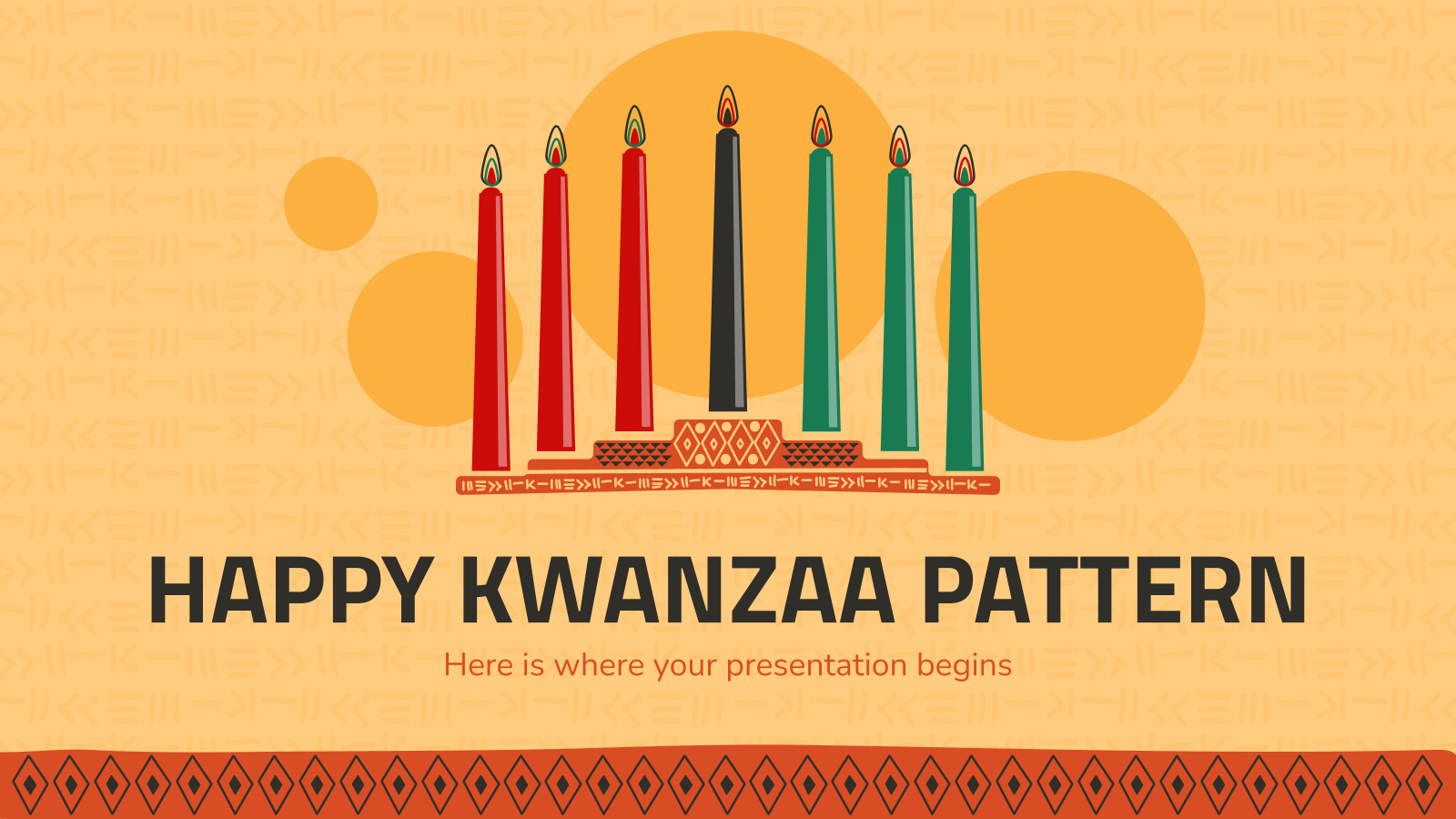 Happy Kwanzaa Pattern presentation template