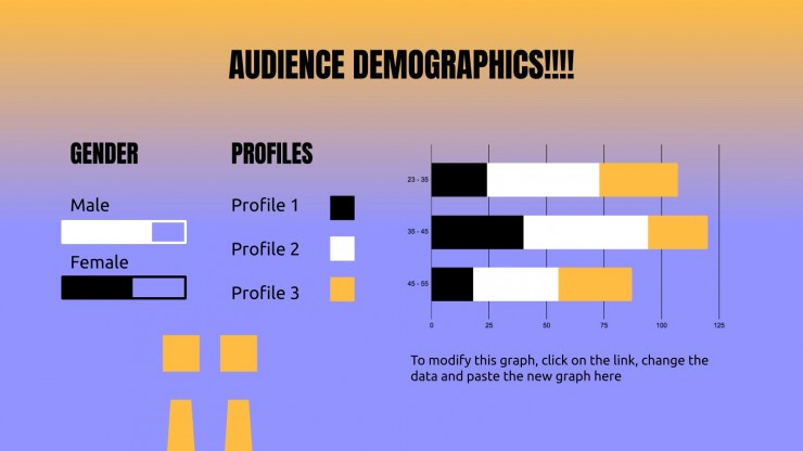 Viele Ausrufezeichnen!!! für Soziale Medien Präsentationsvorlage