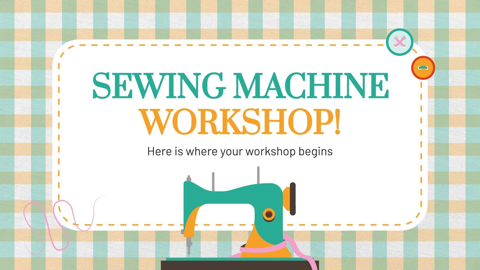 Sewing Machine Workshop presentation template