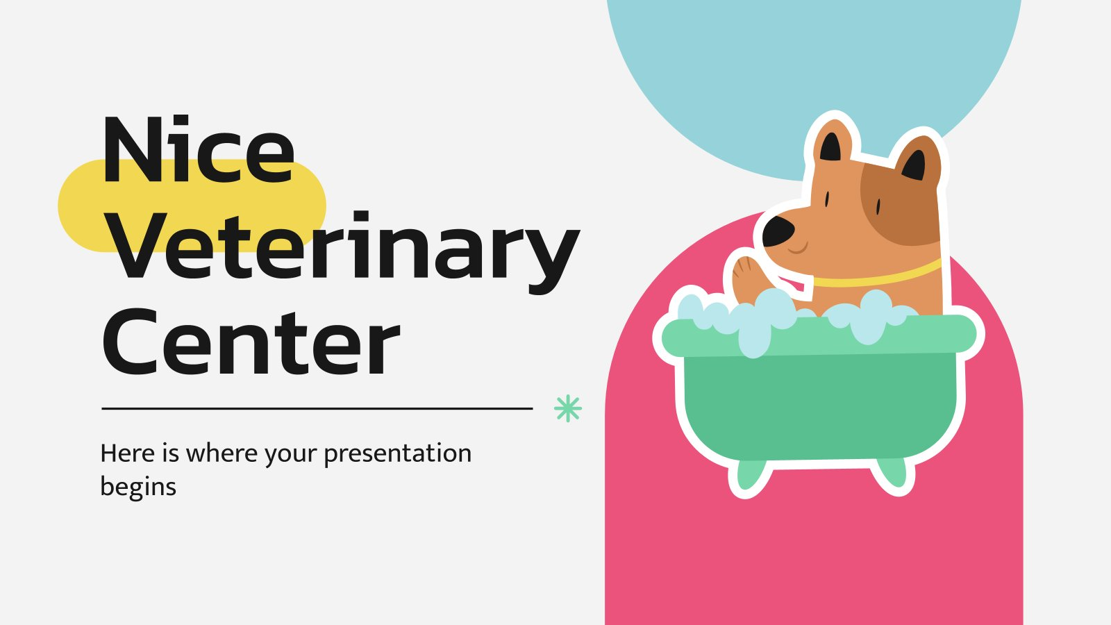 Nice Veterinary Center presentation template