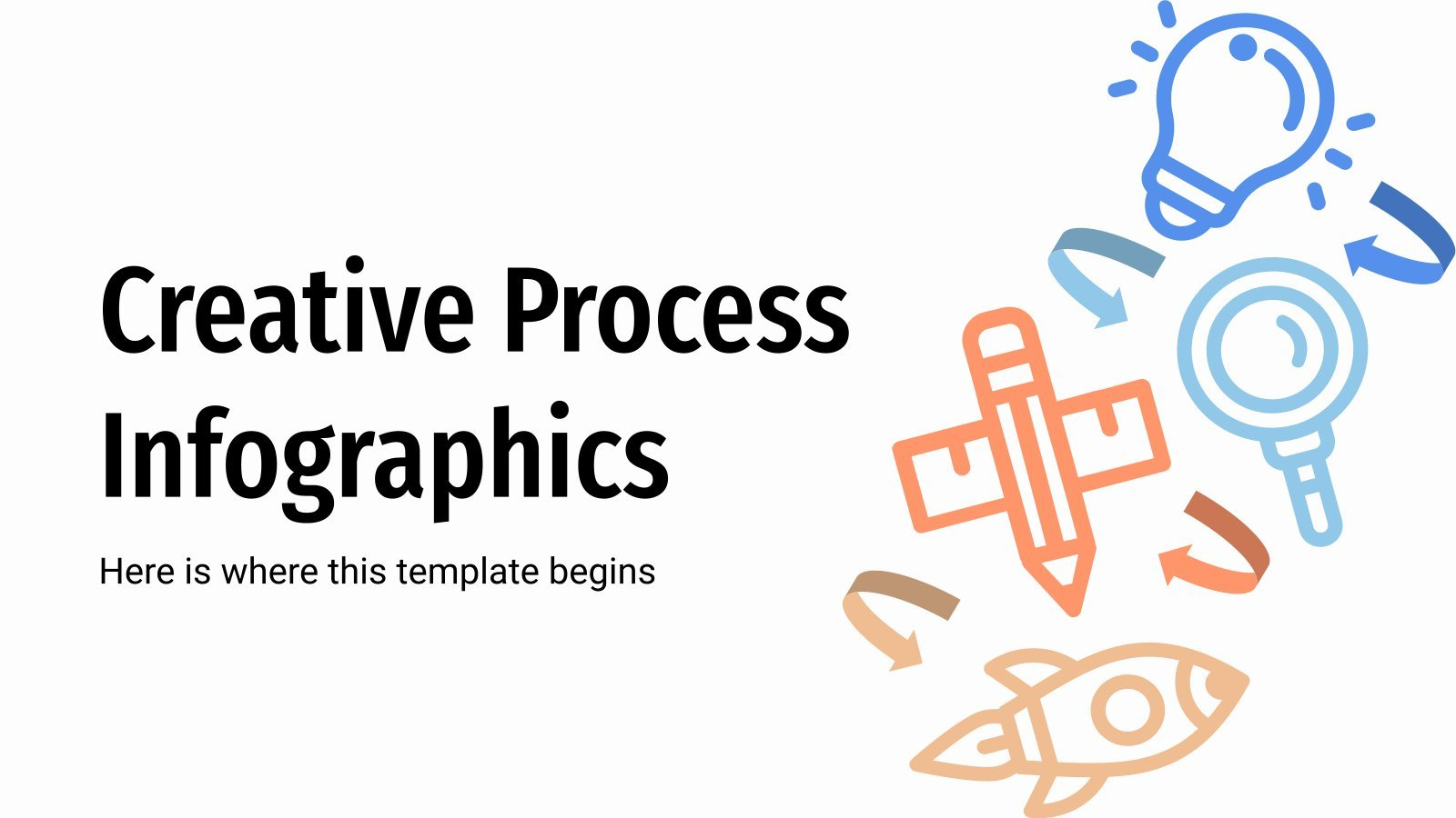 Creative Process Infographics presentation template