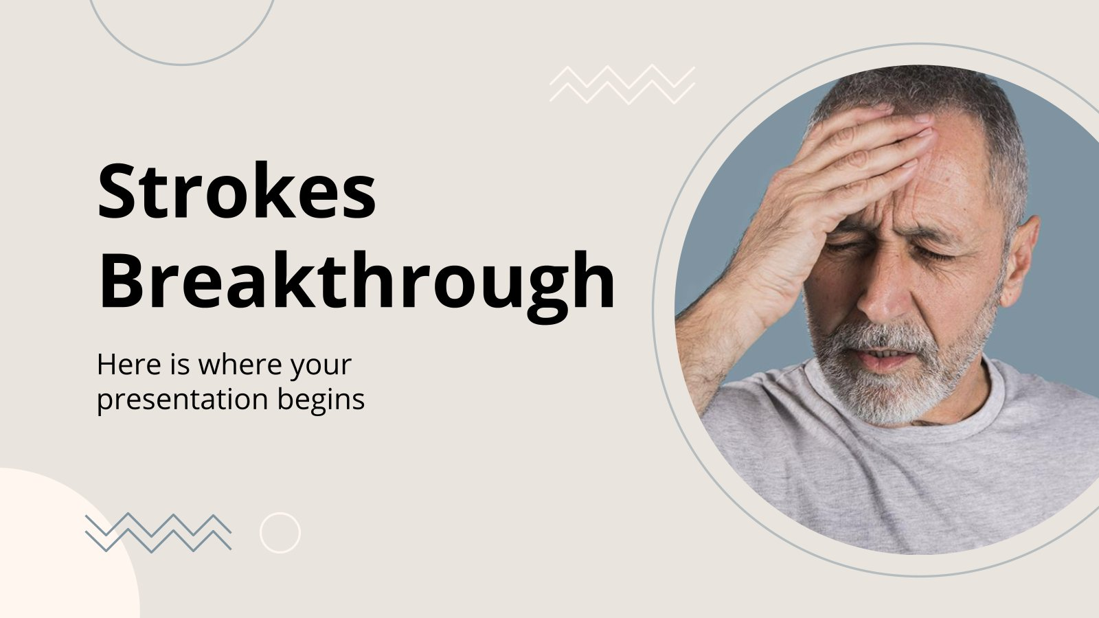 Strokes Breakthrough presentation template