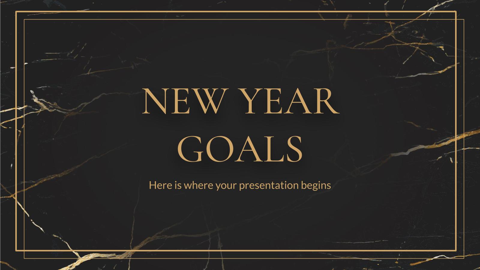 Objectifs pour la nouvelle année : Modèles de présentation