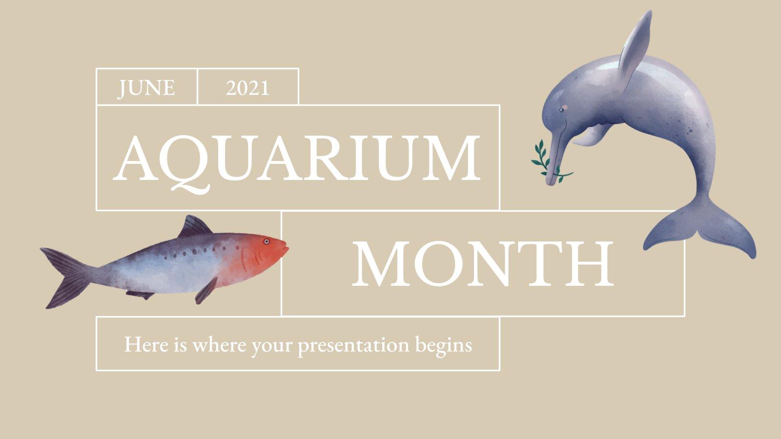 Aquarium-Monat Präsentationsvorlage