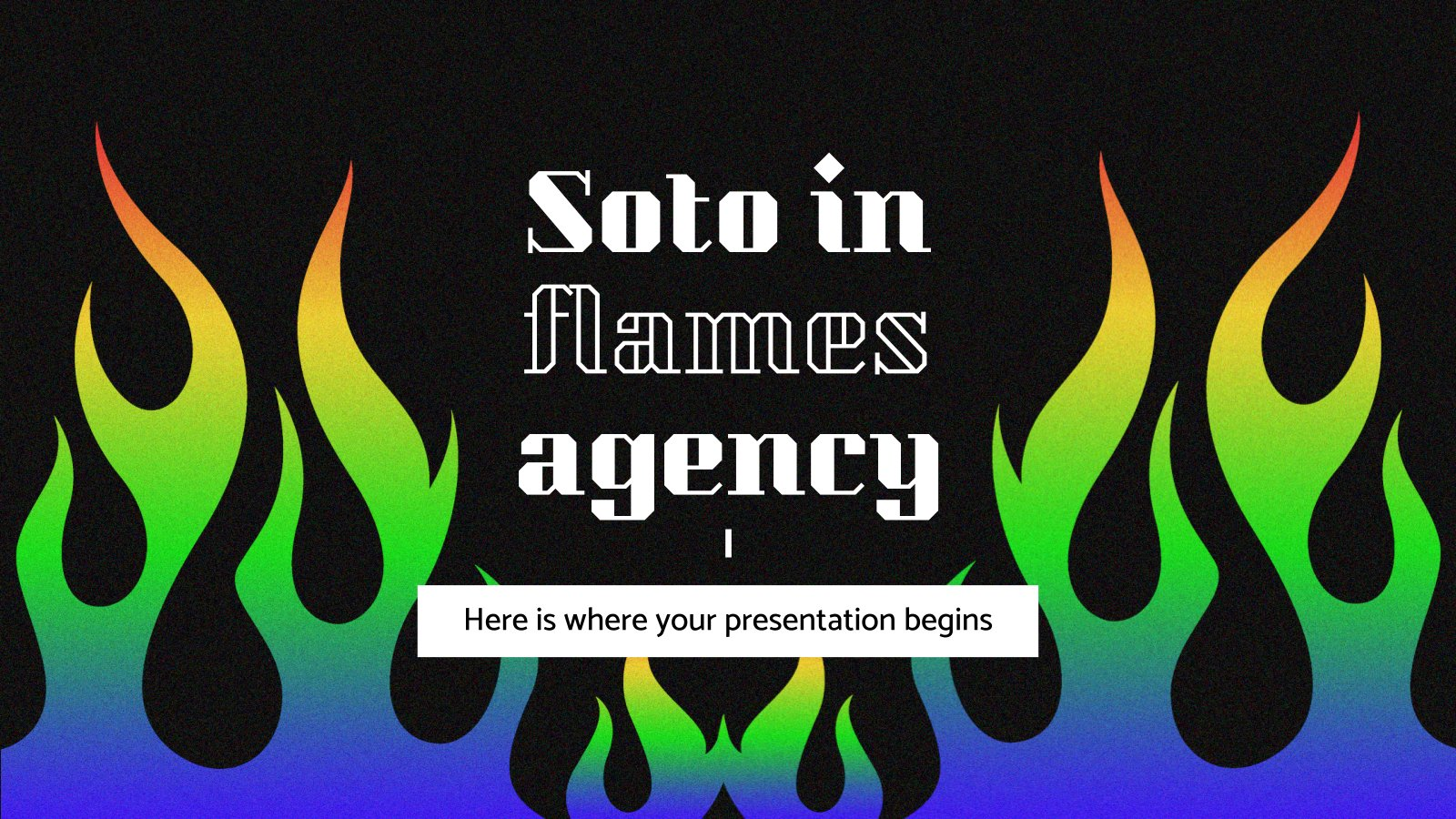 Soto in Flames Agency presentation template