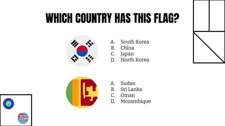 Errate die Flagge! Präsentationsvorlage