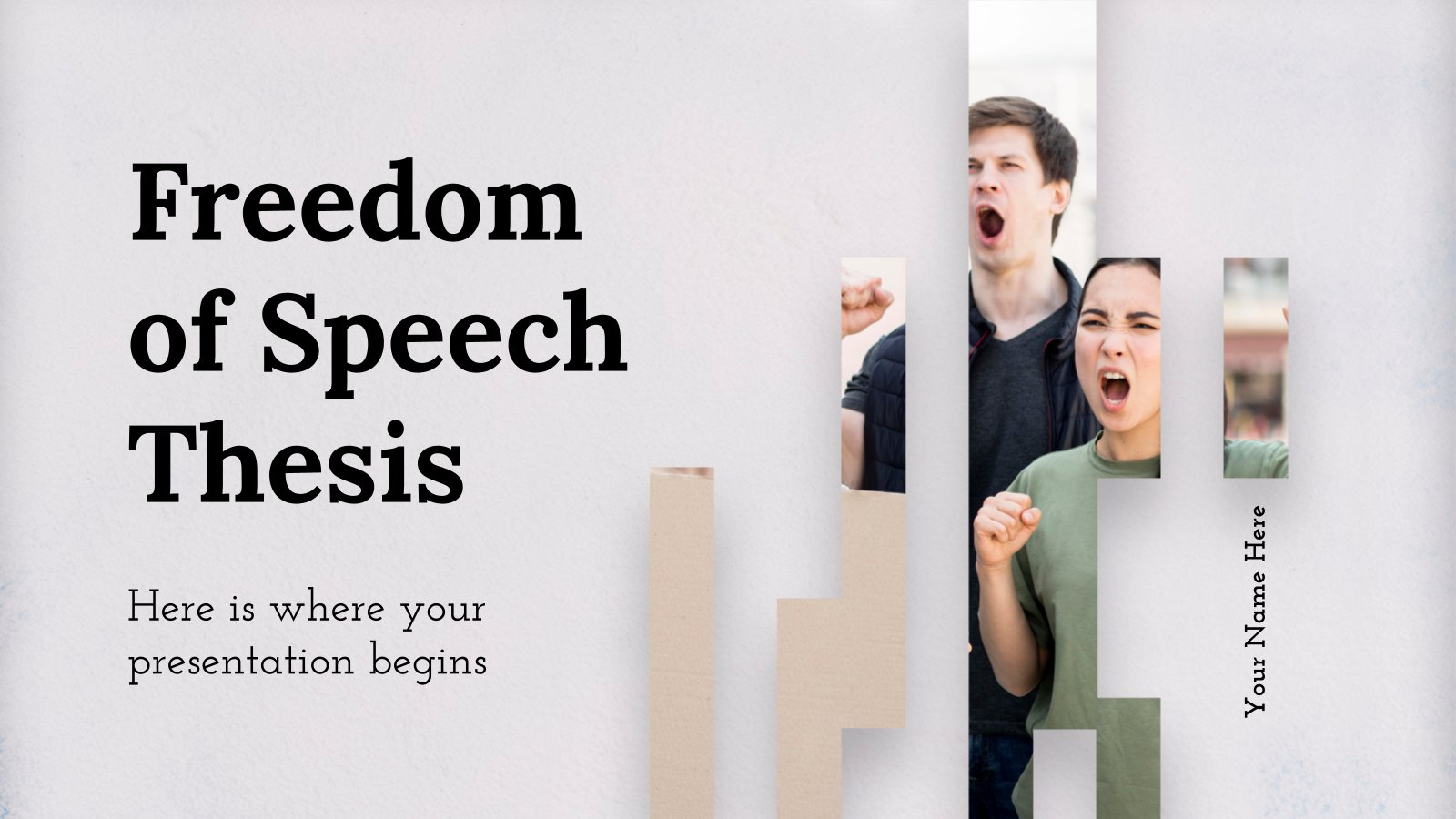 Freedom of Speech Thesis presentation template