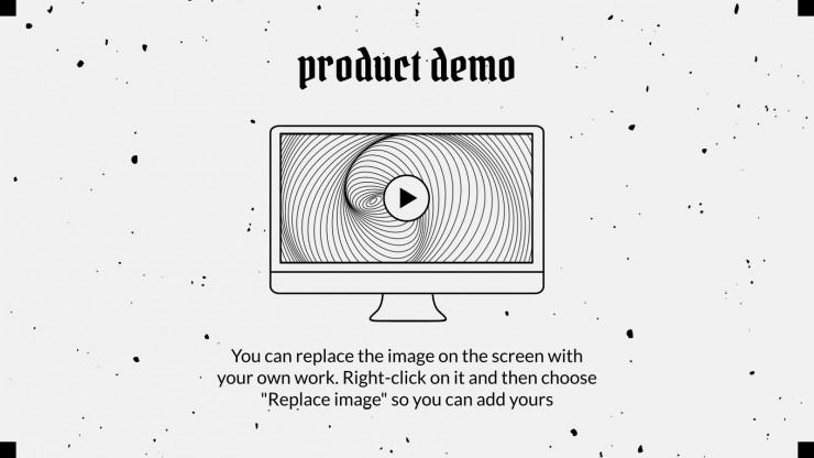 Delirious Pitch Deck presentation template