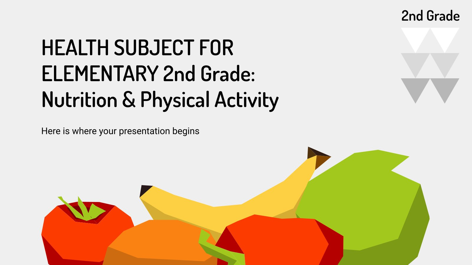 Health Subject for Elementary - 2nd Grade: Nutrition & Physical Activity presentation template