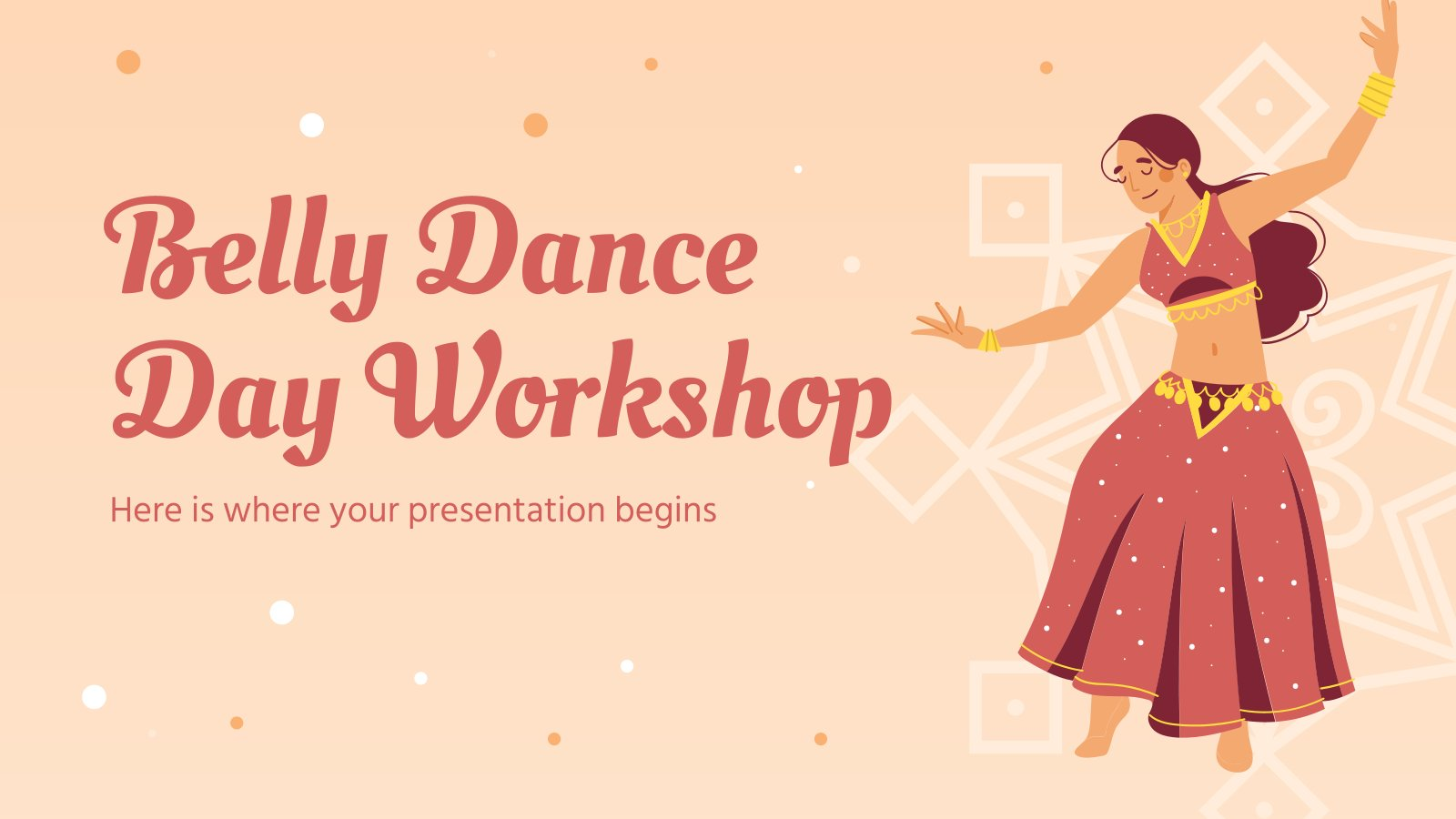 Modelo de apresentação Oficina da dança do ventre