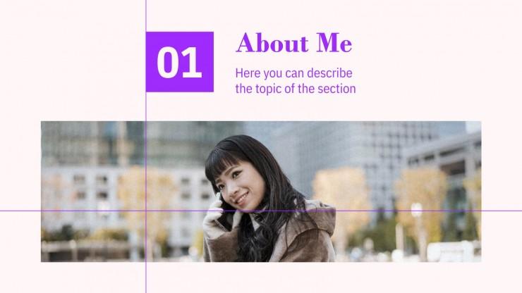 Portfolio du style coréen : Modèles de présentation