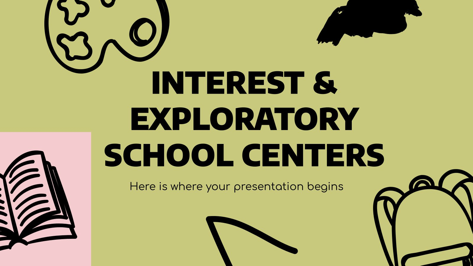 Interest and Exploratory School Centers presentation template