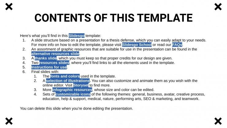 Zensur-These Präsentationsvorlage