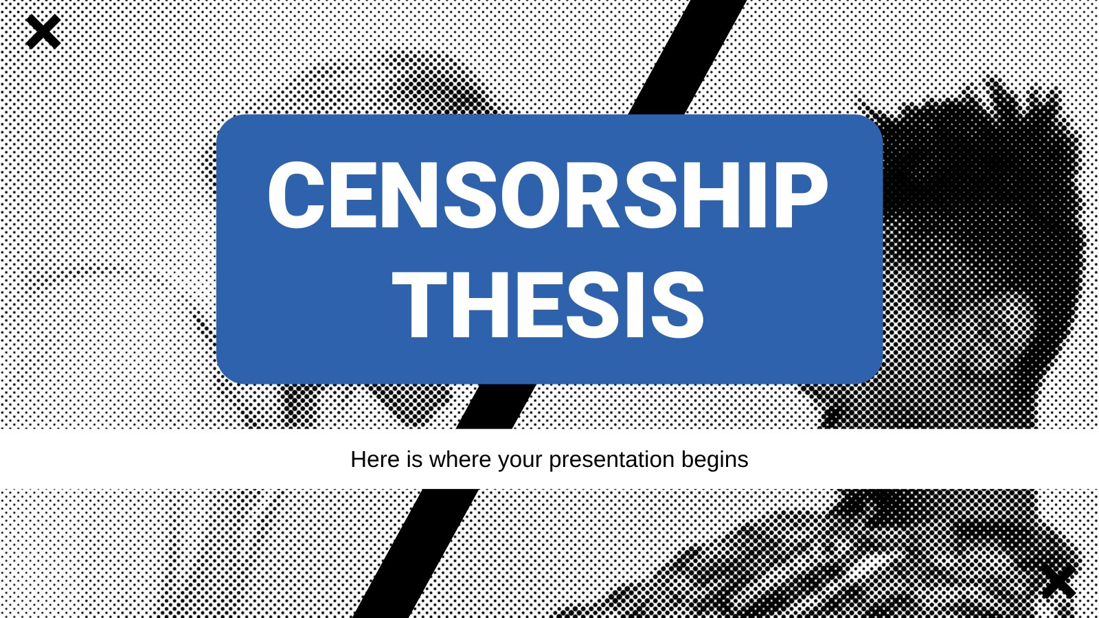 Censorship Thesis presentation template