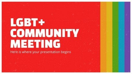 Modelo de apresentação Reunião da comunidade LGBT+