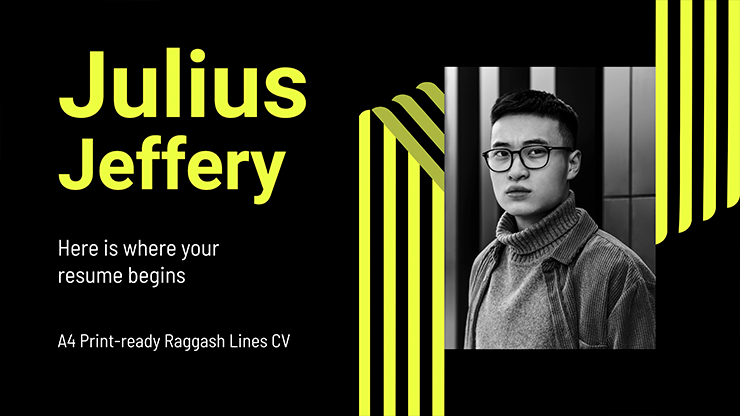 Raggash Lines CV presentation template