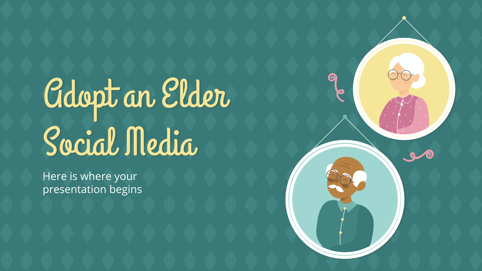 Adopt an Elder Social Media presentation template