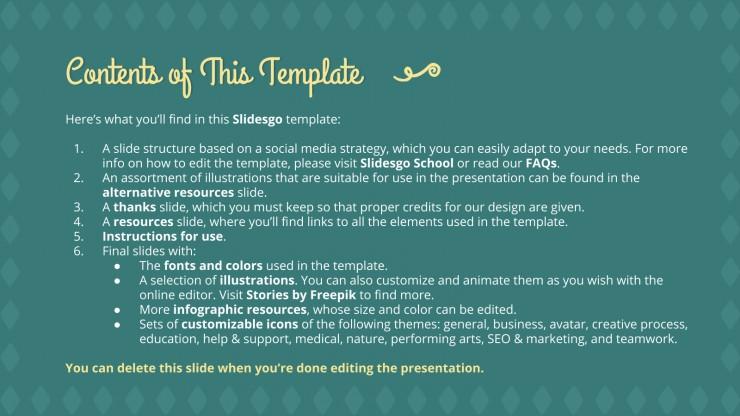 Adopt an Elder Social Media presentation template