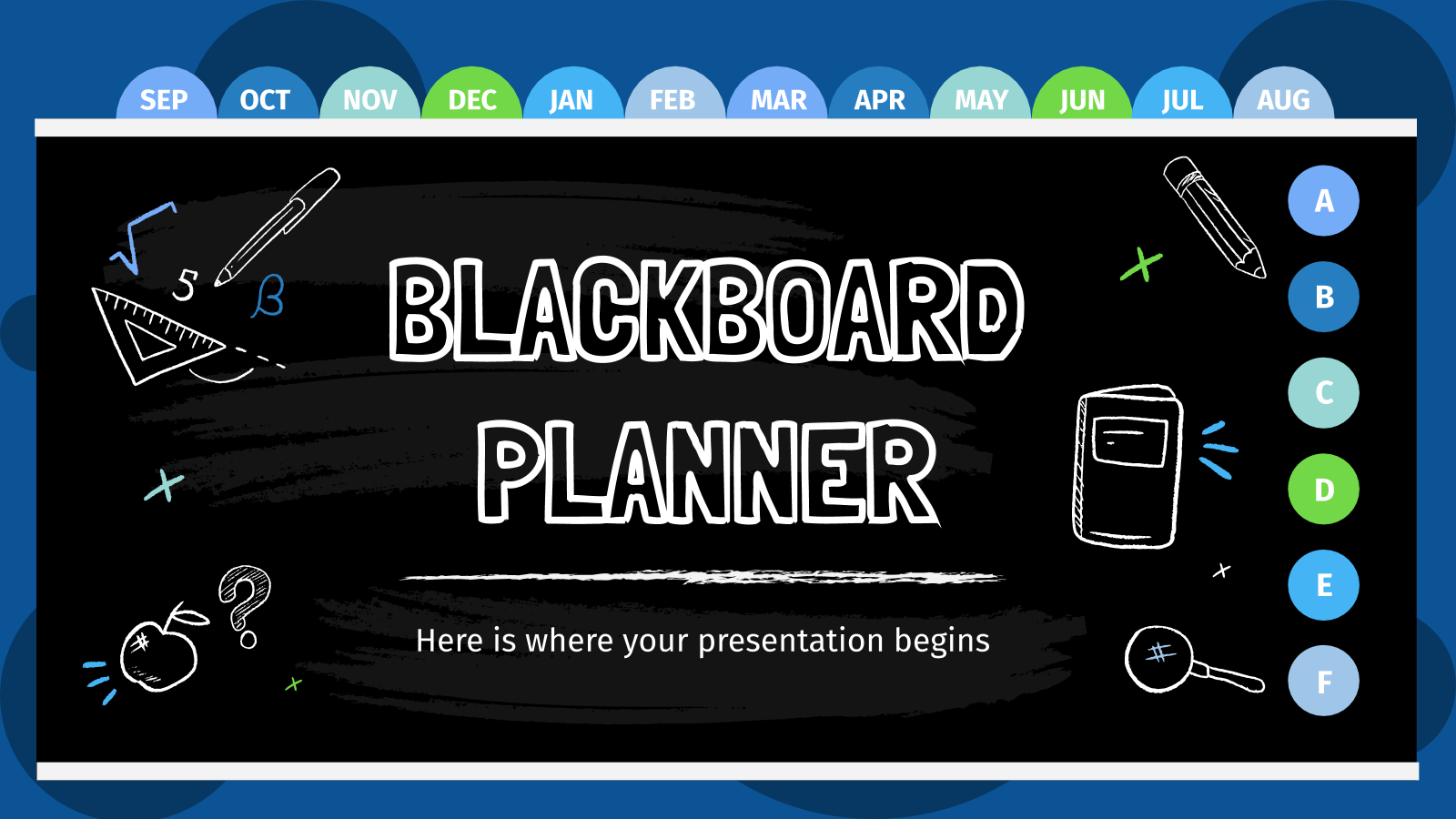 Blackboard Planner presentation template