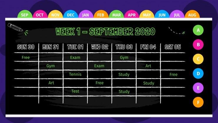 Blackboard Planner presentation template