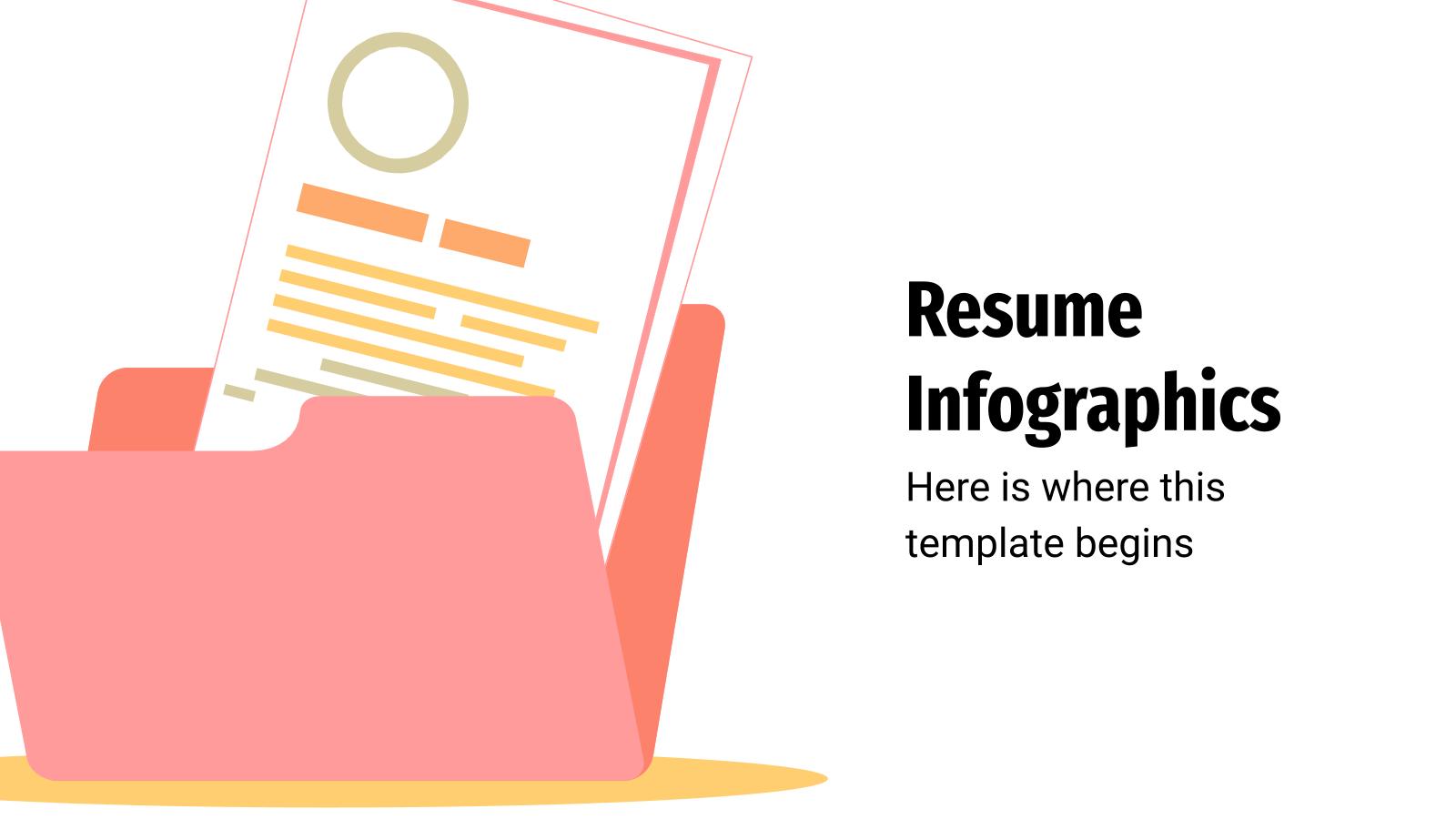 Resume Infographics presentation template