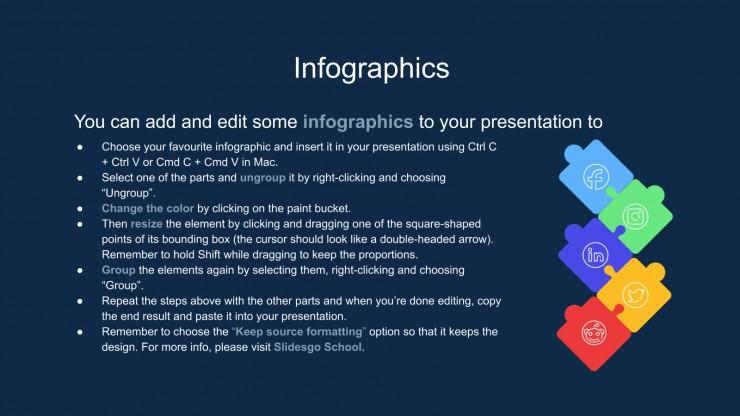 Modelo de apresentação Infográficos de CV