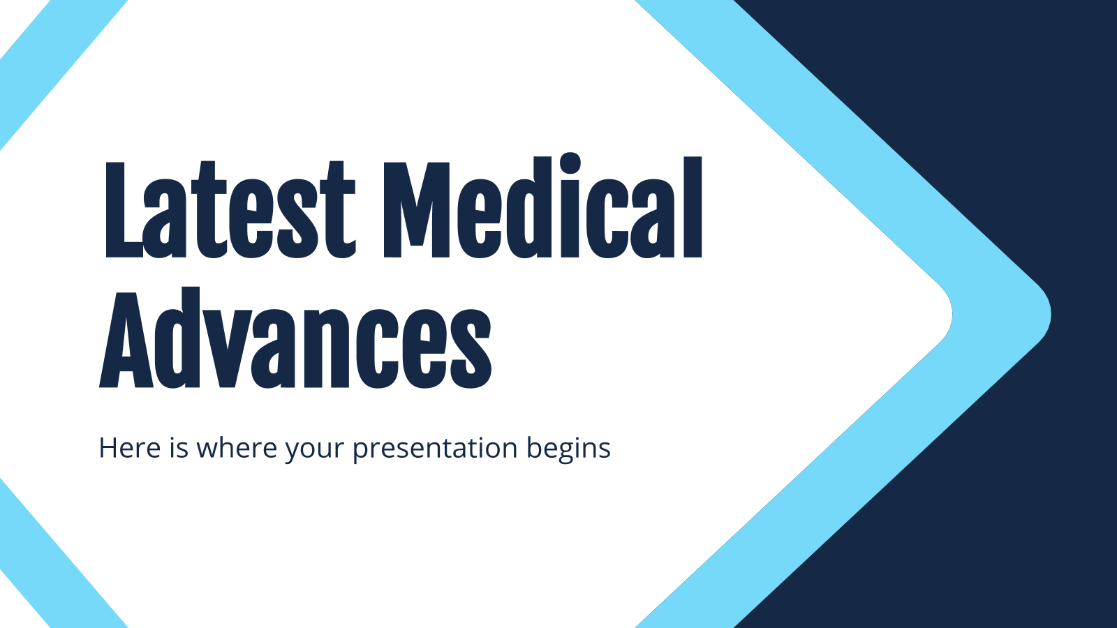 Latest Medical Advances presentation template
