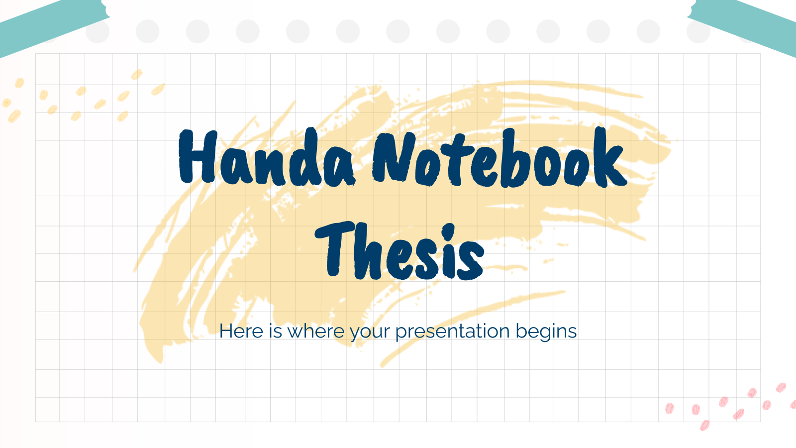 Handa Notebook Thesis presentation template