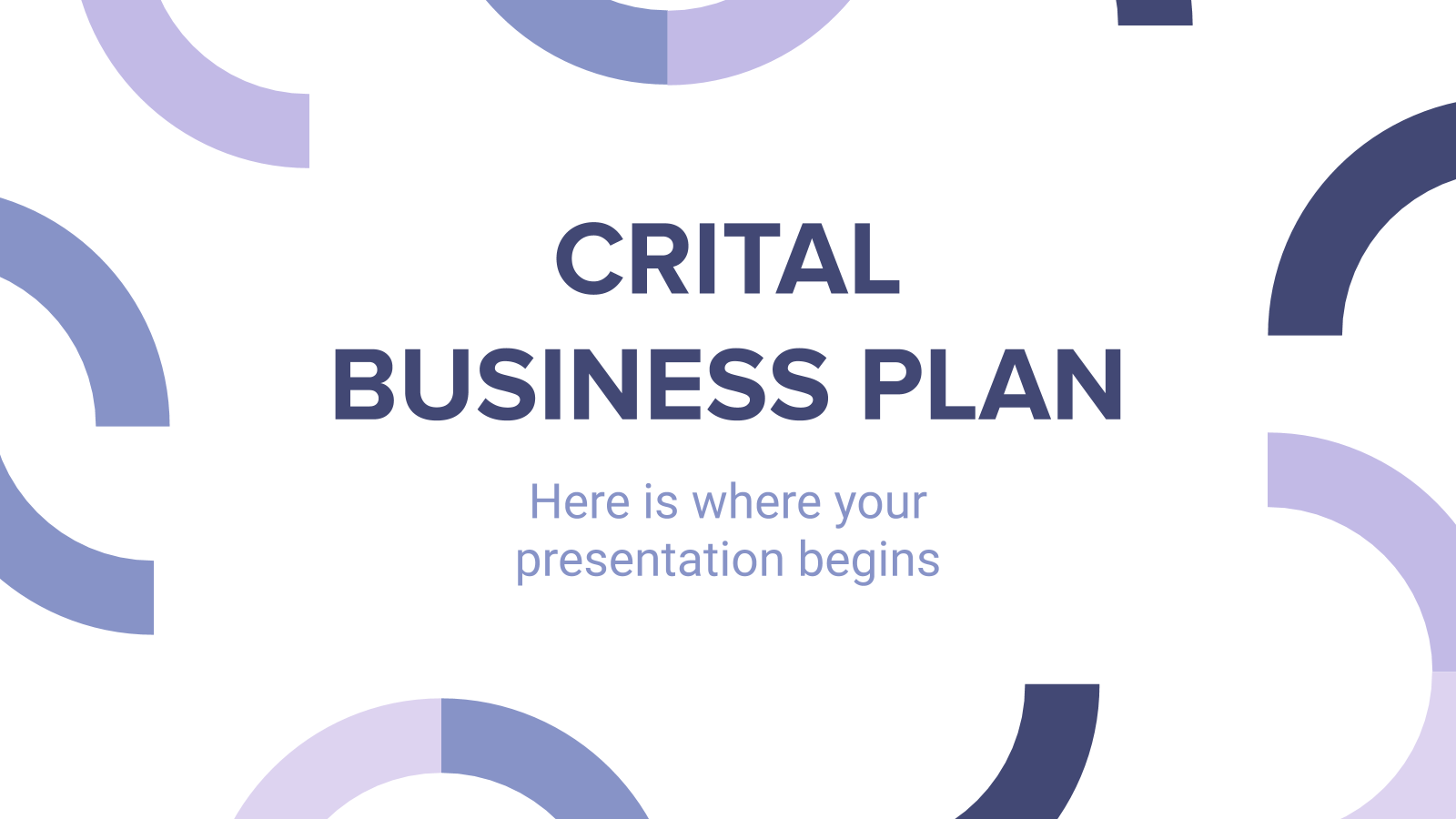 Crital Business Plan presentation template