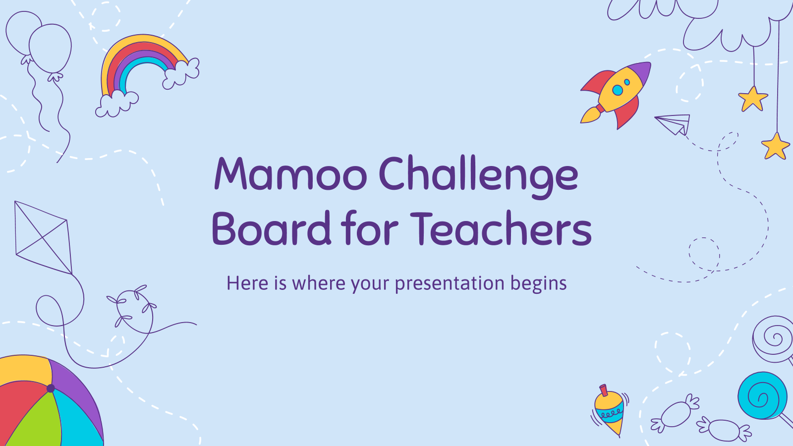 Mamoo Challenge Board for Teachers presentation template