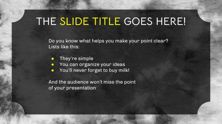 Tie Dye Background Theme for Middle School presentation template