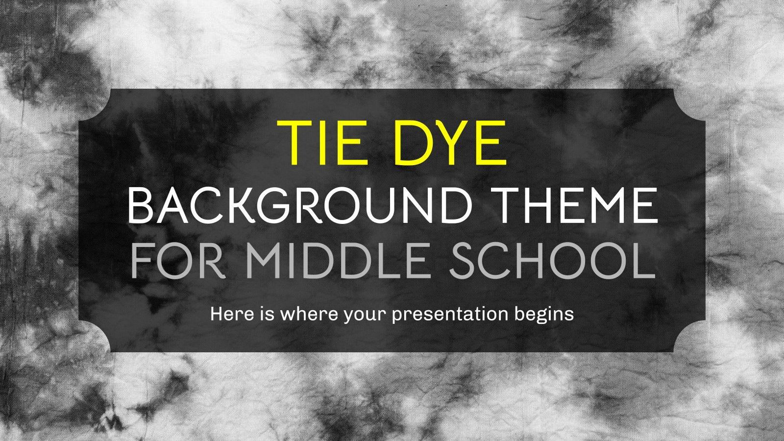 Plantilla de presentación Fondos con técnica tie-dye