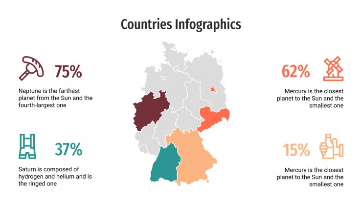 Countries Infographics presentation template