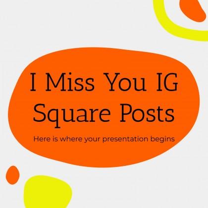Ich vermisse dich IG-Posts Präsentationsvorlage