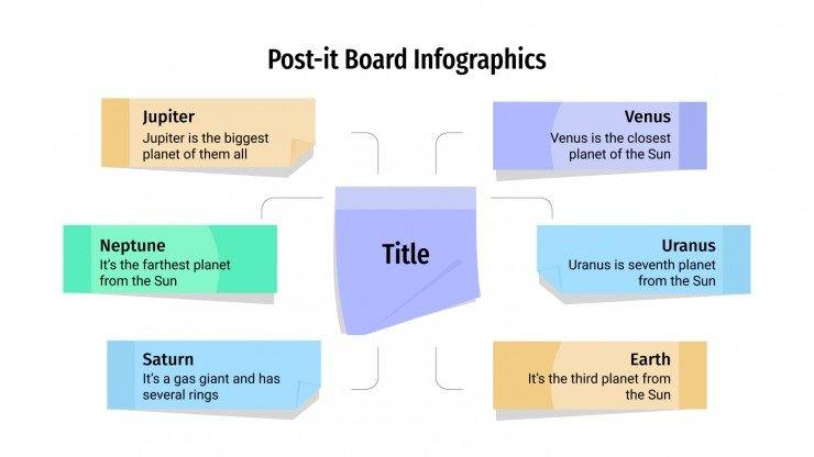 Post-it Board Infographics presentation template