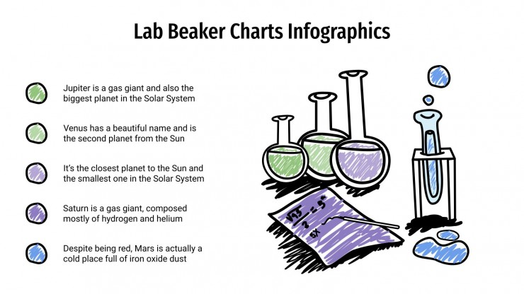 Plantilla de presentación Infografías con matraces