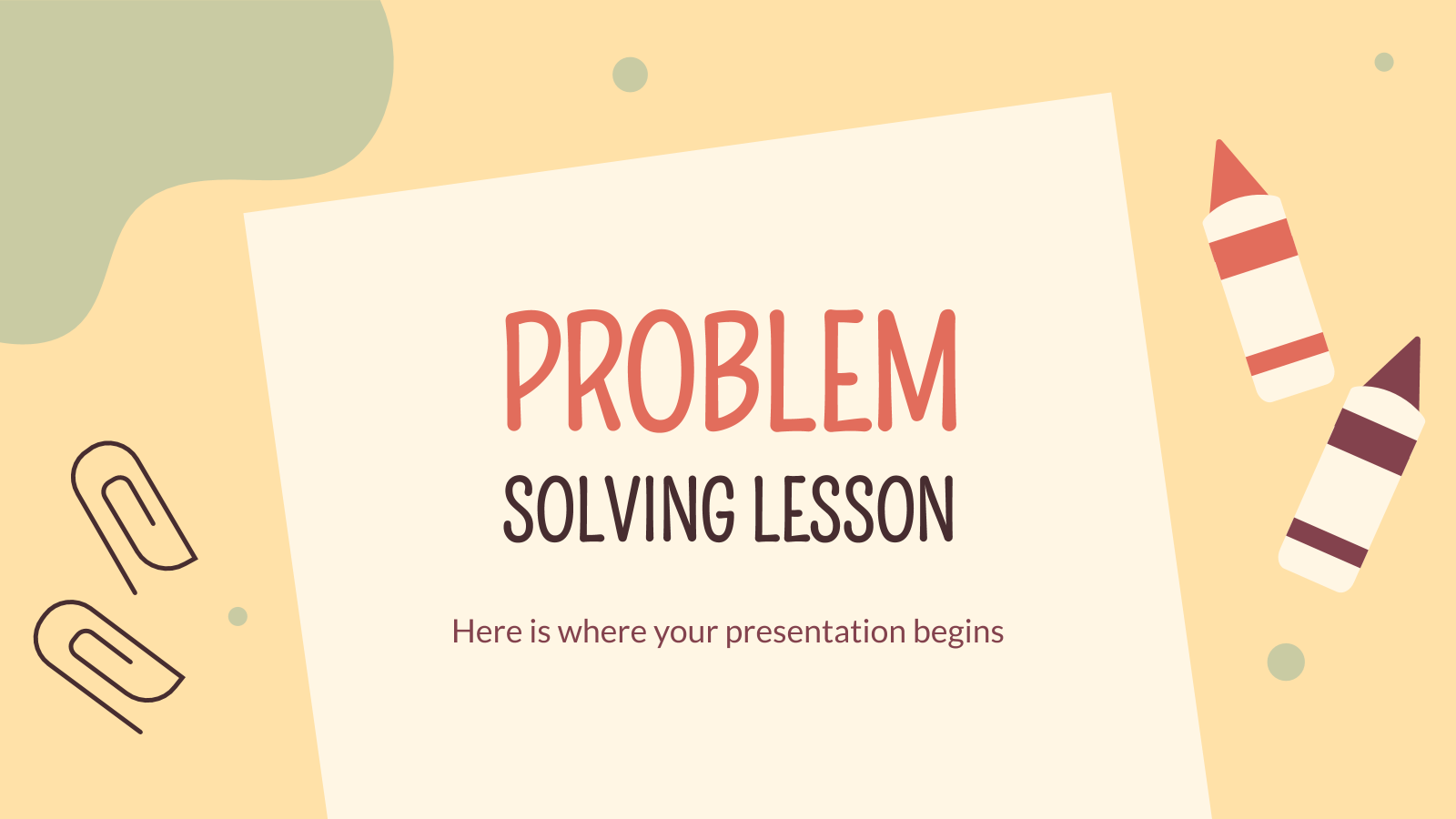 Problem Solving Lesson presentation template
