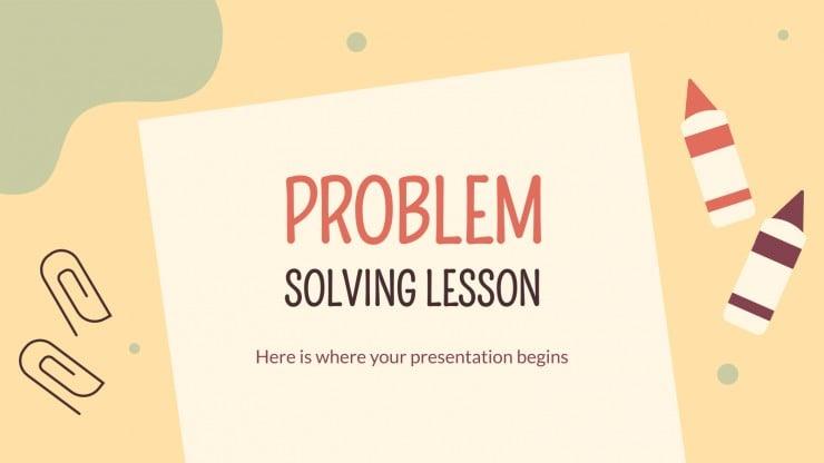 Modelo de apresentação Resolução de problemas