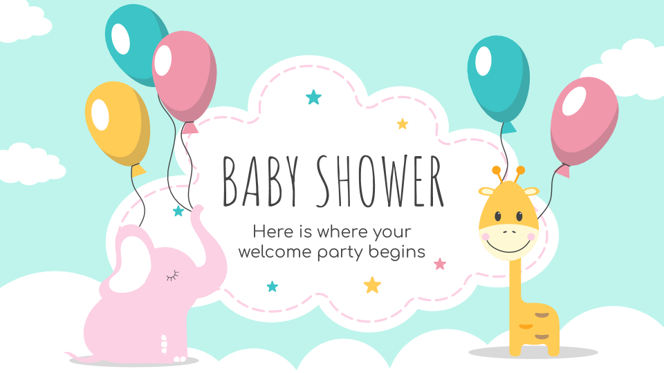Baby Shower presentation template