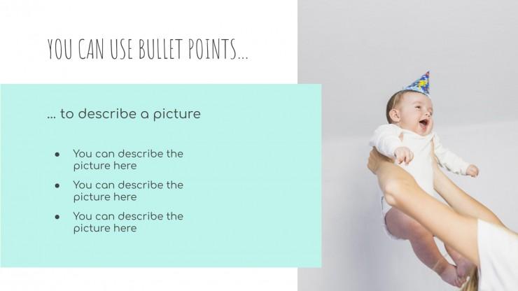Modelo de apresentação Chá de bebê