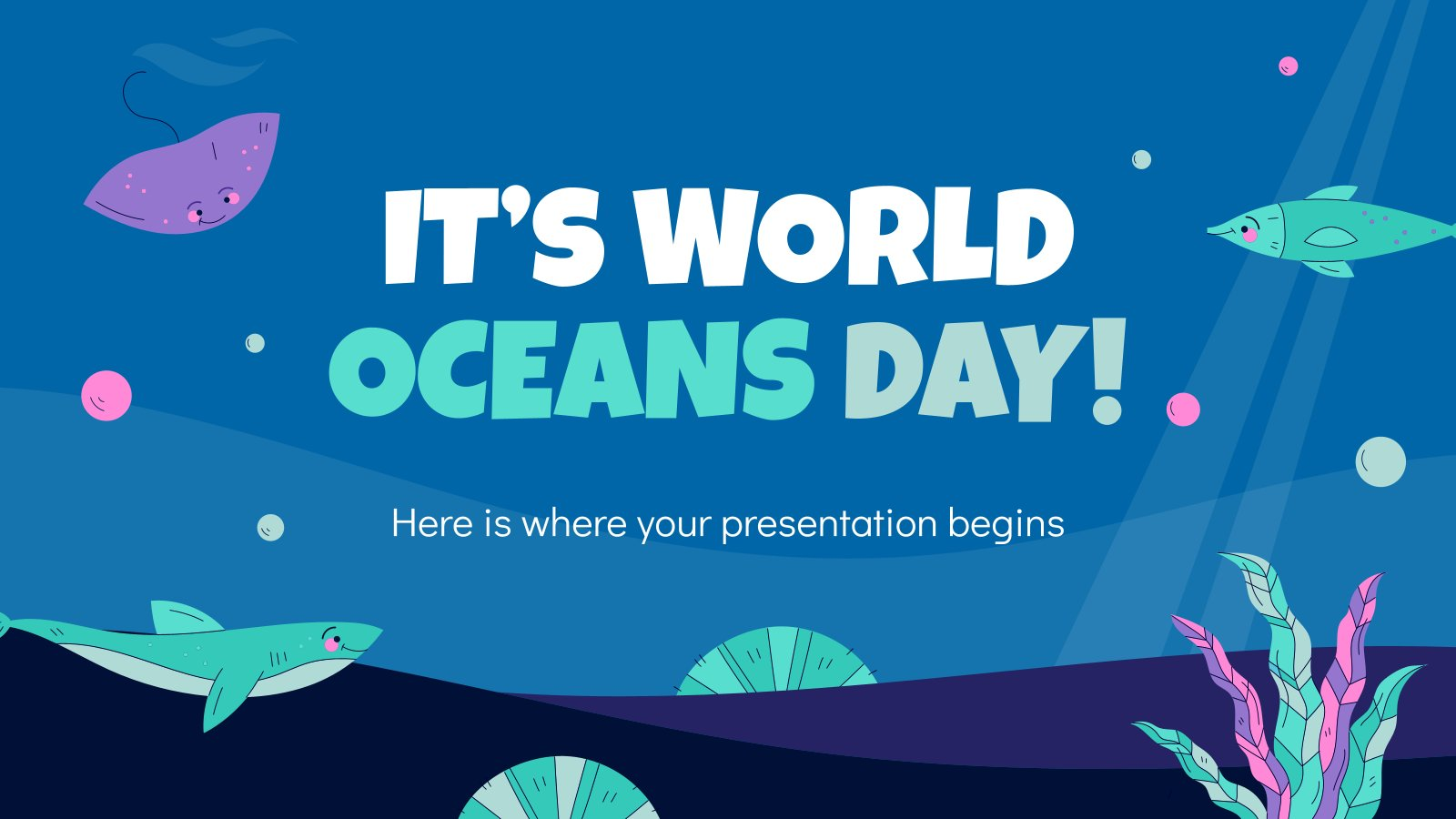 It's World Oceans Day presentation template
