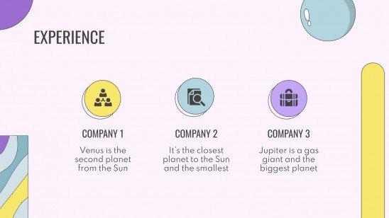 Veilchen Shapes CV presentation template