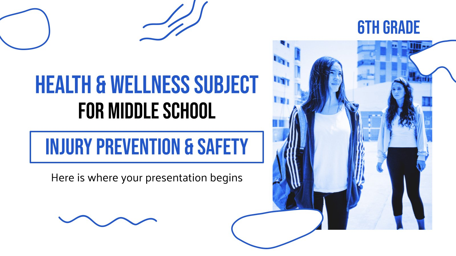 Health & Wellness Subject for Middle School presentation template