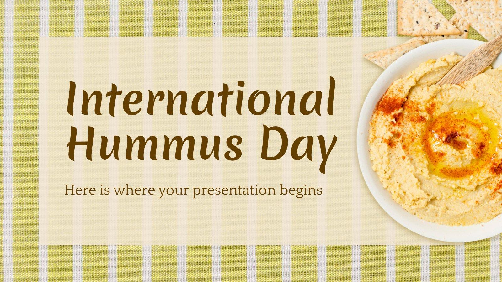 Plantilla de presentación Día Internacional del Hummus