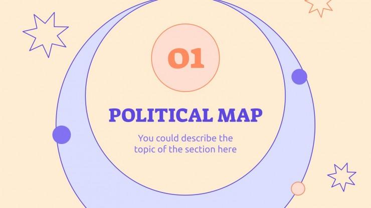 Plantilla de presentación Estudios Sociales para primaria: Geografía