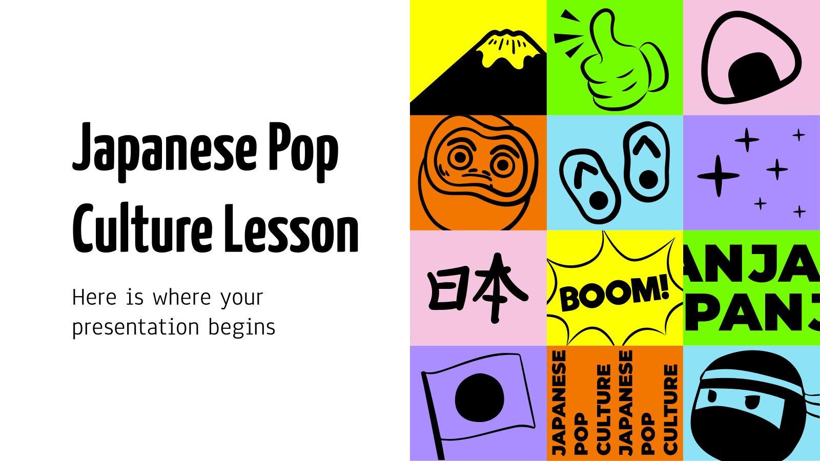 Leçon sur la culture populaire japonaise : Modèles de présentation