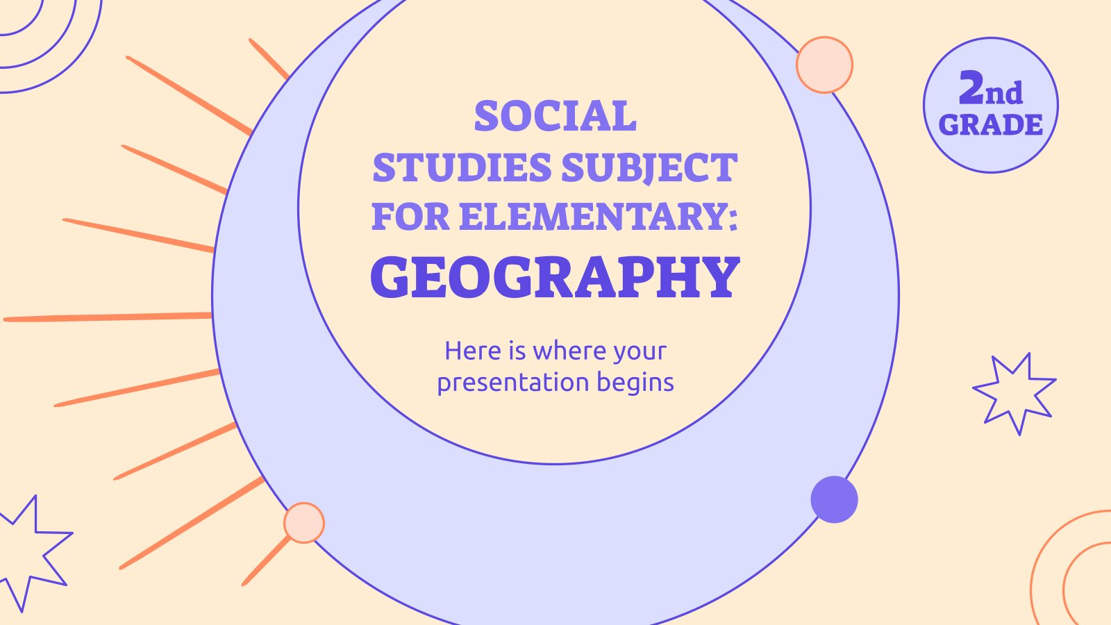 Social Studies Subject for Elementary - 2nd Grade: Geography presentation template