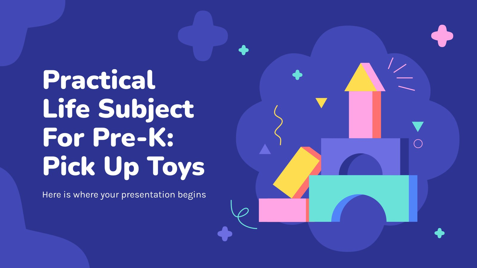 Practical Life Subject for Pre-K: Pick Up Toys presentation template