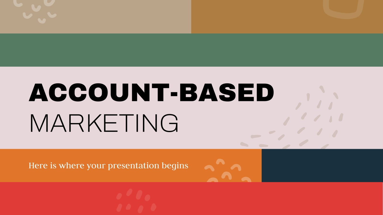 Account-Based Marketing presentation template